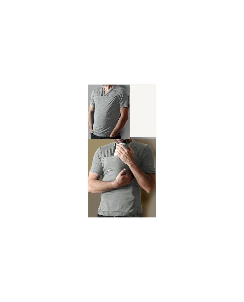 T-Shirt Peau-à-Peau Homme