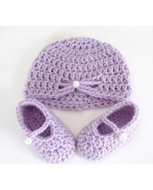 Bonnet et Chaussons Crocheté