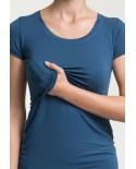 T-Shirt d'Allaitement Froncé
